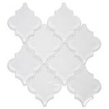 Euro Tile Stone Arabesque Glossy Super White