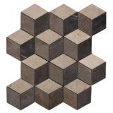 Euro Tile Stone 3-D Rombi Grigio
