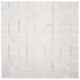 Euro Tile Stone Ariston White Puzzle Square