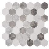 Euro Tile Stone Carrara Crystal White & Antique Marble