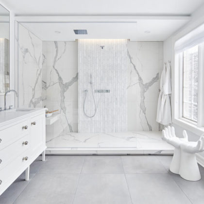 Marble Look Bathroom Astro Design Centre and Susan Bryson