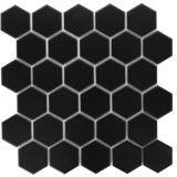 Euro Tile Stone Big Hexagon Matte Black