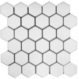 Euro Tile Stone Big Hexagon Matte White