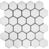 Euro Tile Stone Big Hexagon Matte White