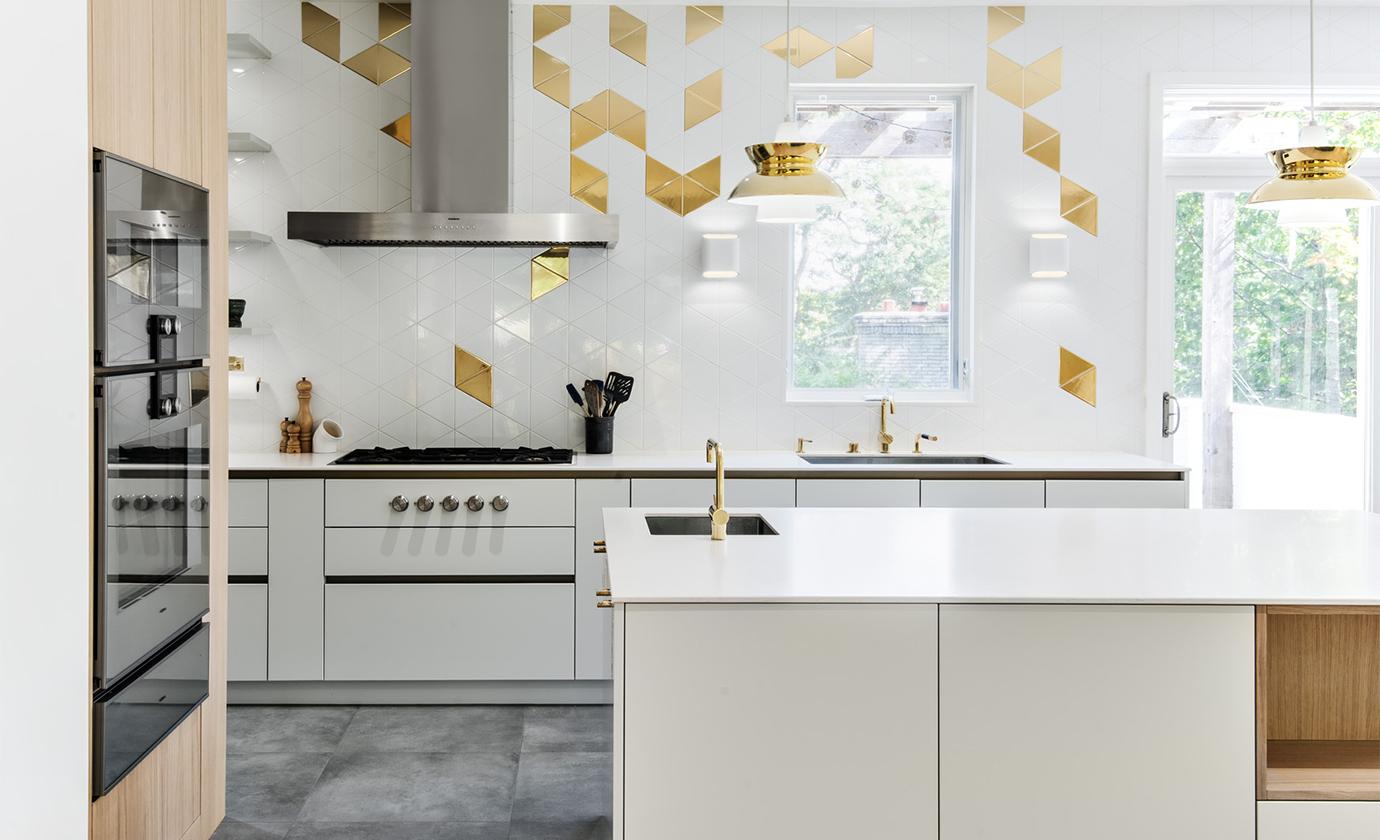 Gold White Triangle Kitchen O'Keefe Fiorenza