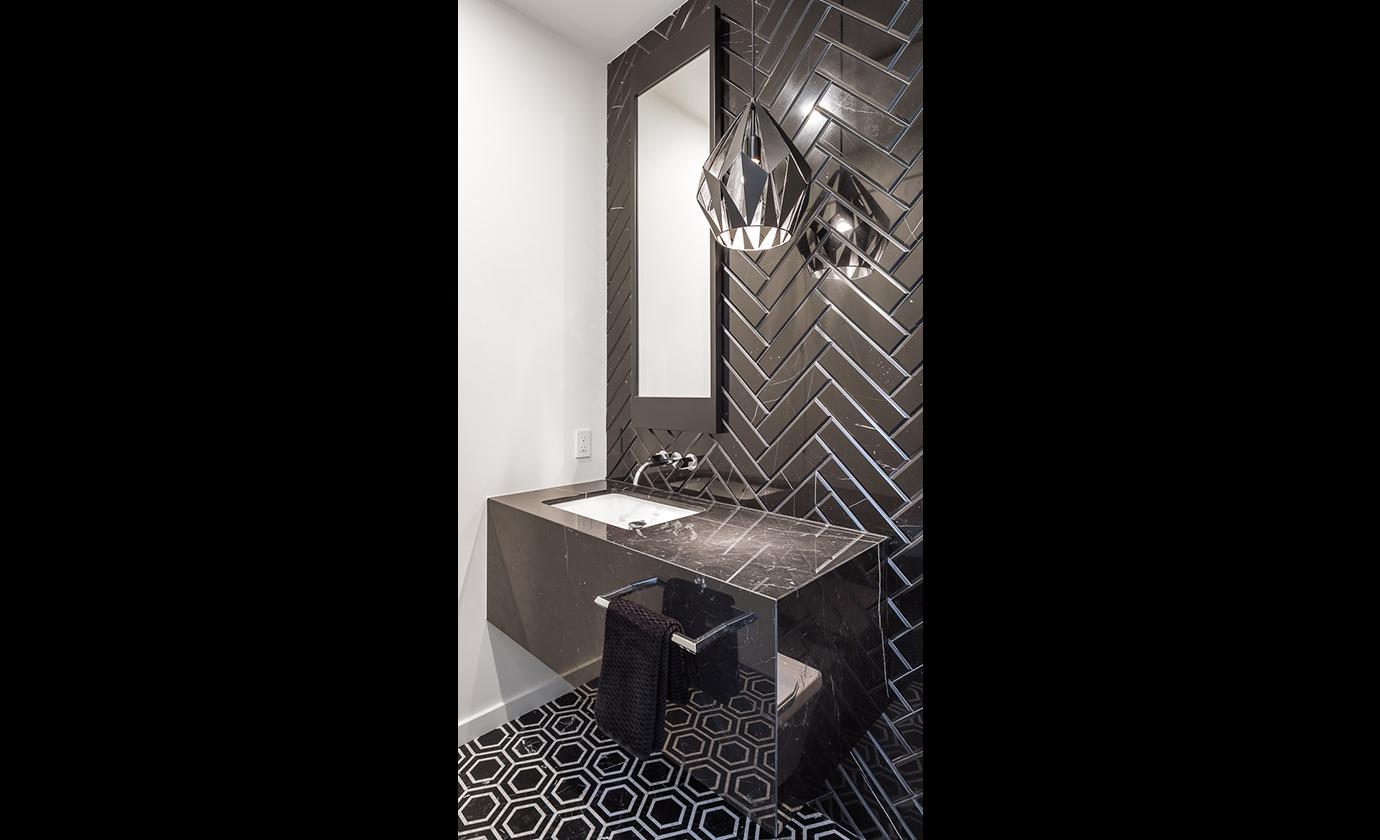 Black Marble Bathroom Fiorenza O'Keefe Design