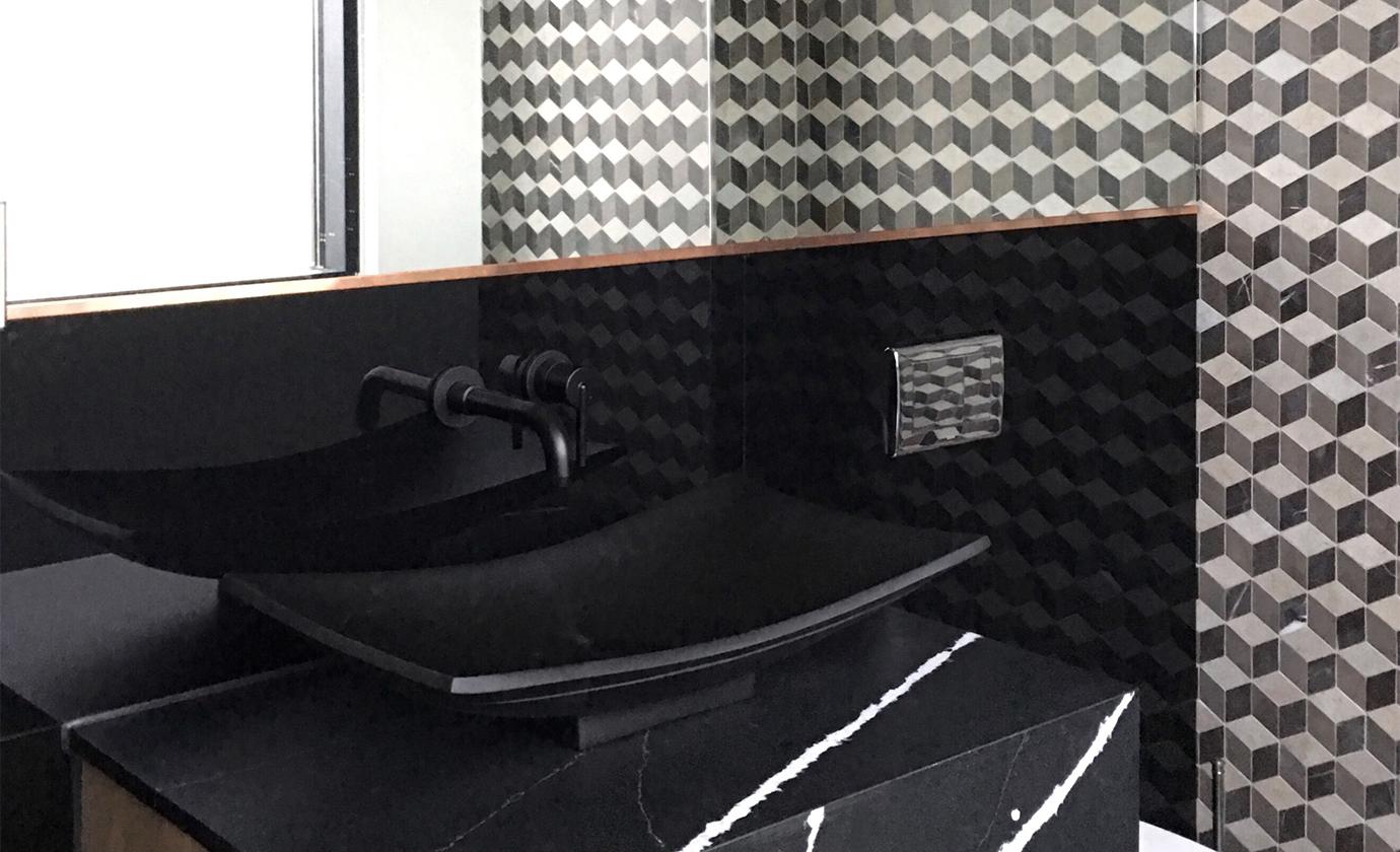 Euro Tile Stone Iron Ivory Distillery Bathroom