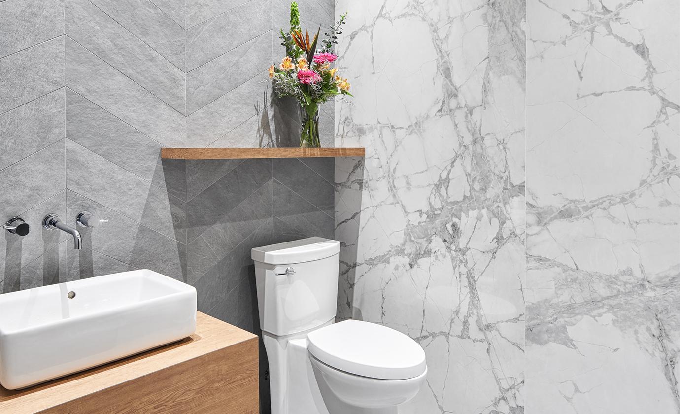 Euro Tile Stone Showroom Bathroom