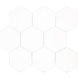 Euro Tile Stone Super Big Hexagon Matte Black