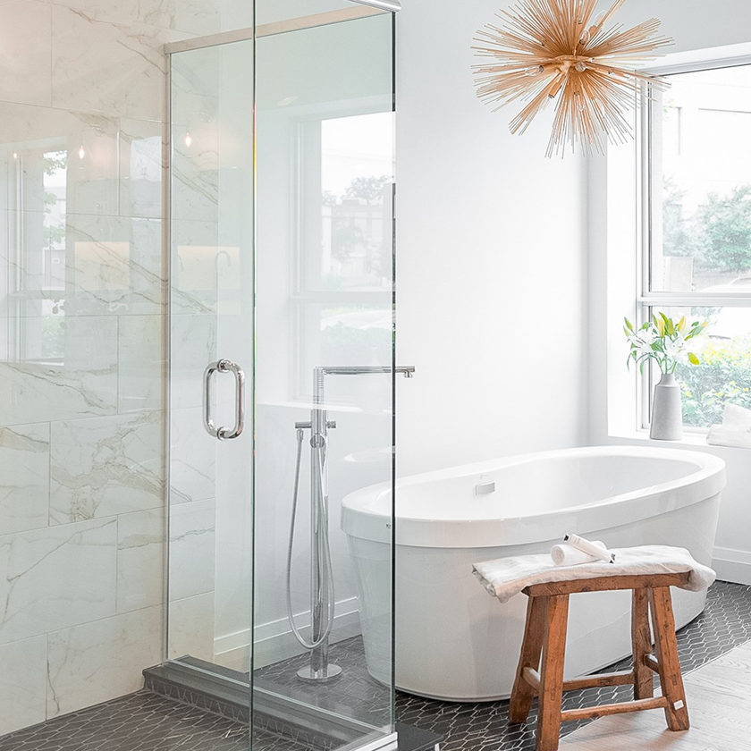 Marble Look Mosaic Bathroom