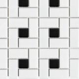 Euro Tile Stone So Ho White With Black